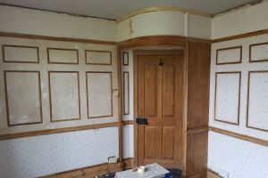 Restoration work required to panelling