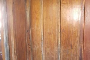 Wooden panelling before